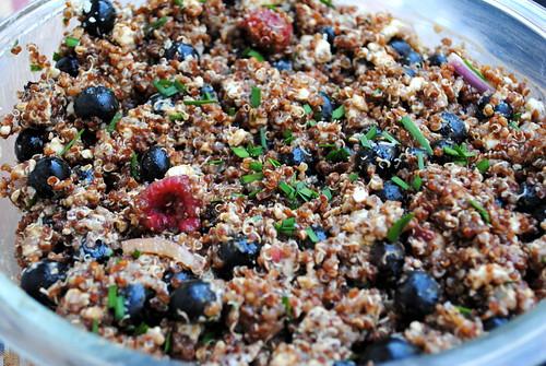 Red, White & Blue(berry) Quinoa Salad