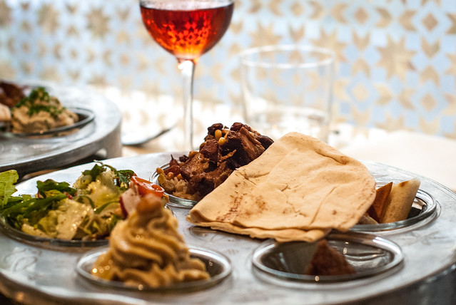 Restaurants in Parijs: Mezze bij Libanees estaurant Liza