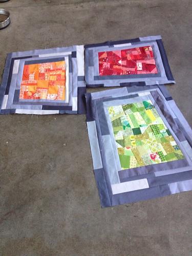 Made Fabric Red/Orange/Green