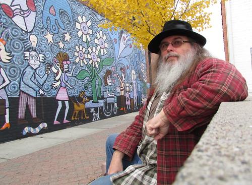 By the art wall in Ferndale