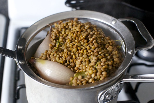 cooked lentils