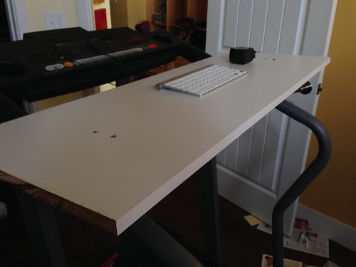 Top of treadmill desk beta