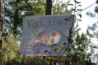 rock climbing, this way sign, Sagada
