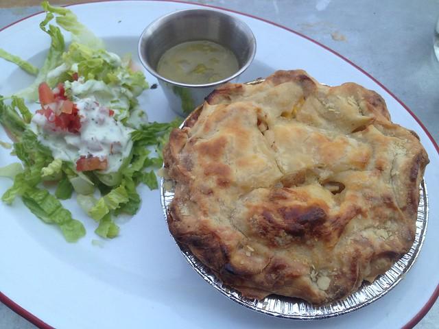 Green chile chicken pot pie - Chile Pies