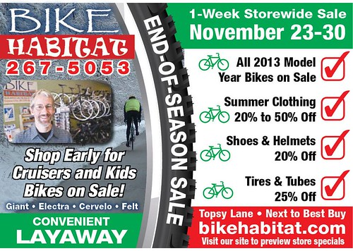Bike Habitat End of Season Sale 2013