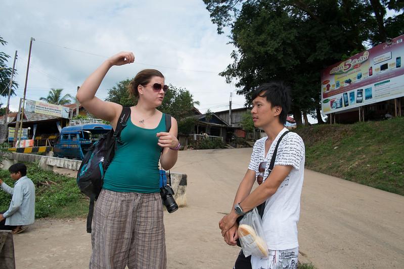 Cruising Nomads from Czech Republic, Huay Xai, border town in Laos