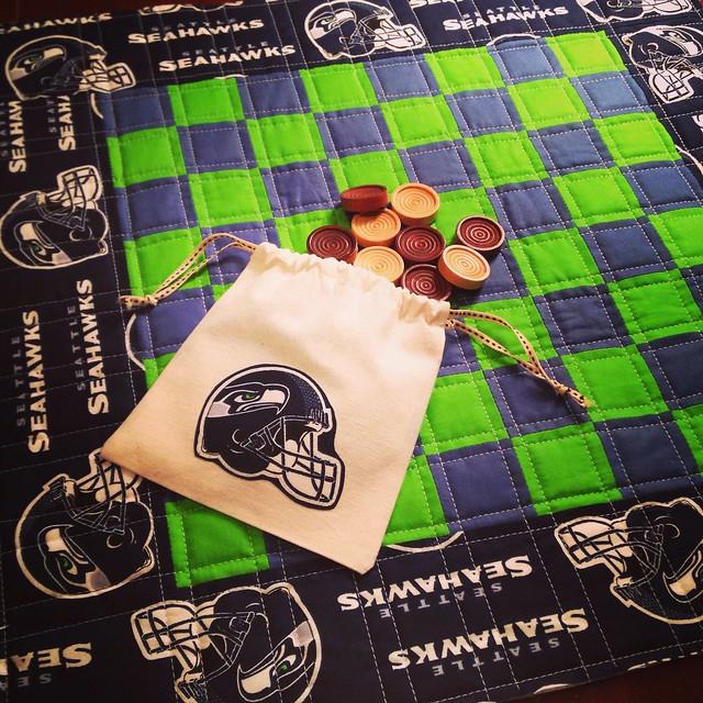 Seattle Seahawks Checker Board