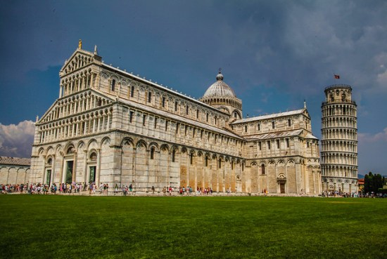 medieval cathedral of the Archdiocese of Pisa and leaning tower