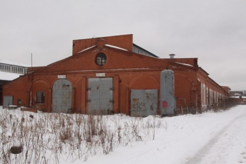 Another abandoned railway workshop building