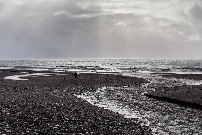 A bleak scene on Seaton beach