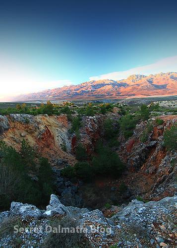 Bauxite pits near Obrovac
