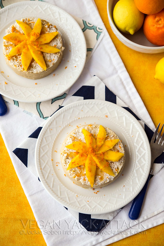 Refreshing and naturally sweet Raw Mango Banana Cakes that are filled with fruit and easy-to-make!