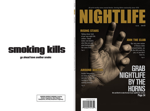 front and back cover for a magazine