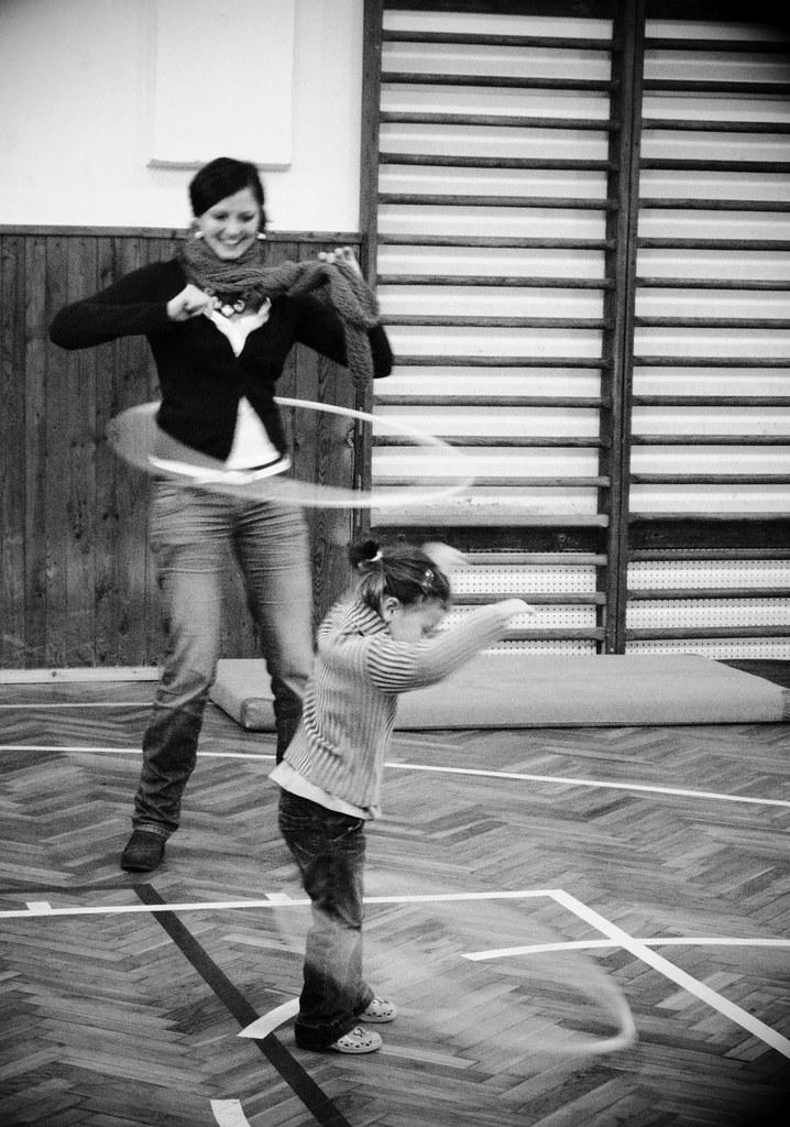 Hula hoop (B&W version)