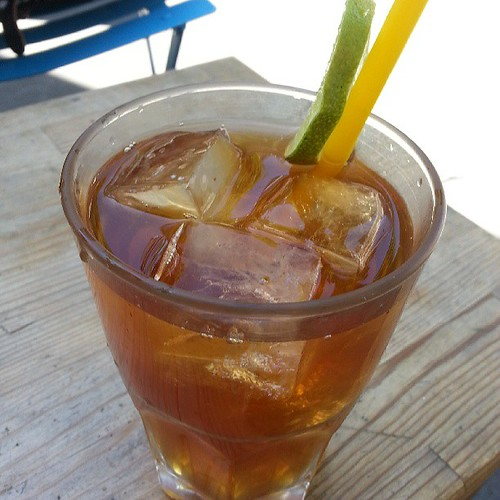 Ice tea at Kooka Boora