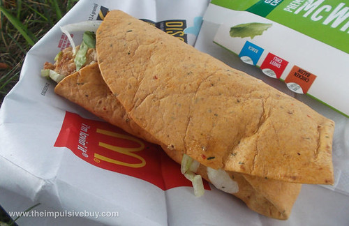 McDonald's Chicken Caesar Premium McWrap Tomato Basil Wrap