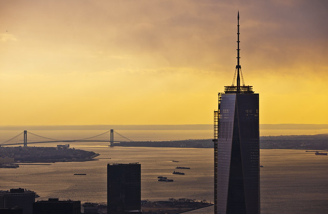 One World Trade Sunset in New York City