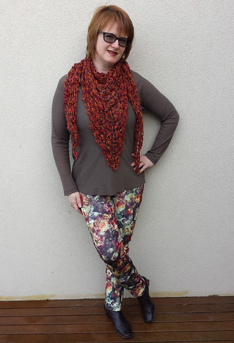 StyleARC Elle in Darn Cheap Fabrics scuba knit
