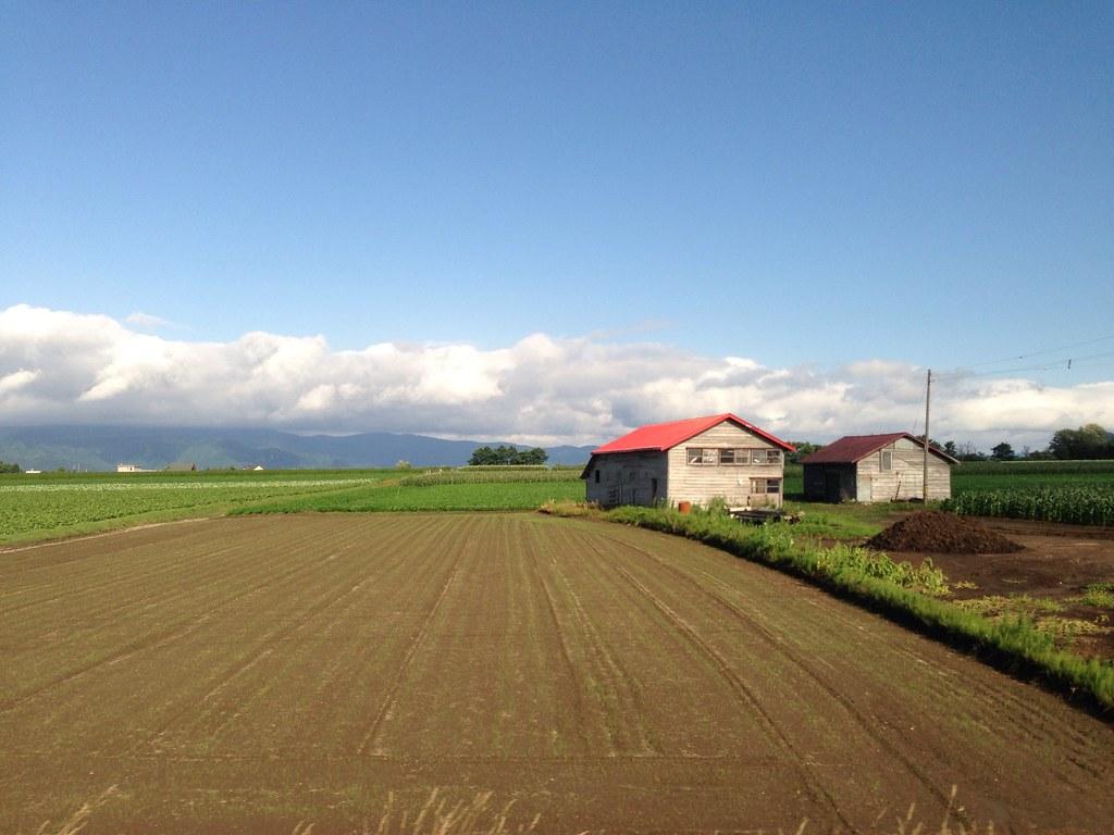 Farms around Lake Toya