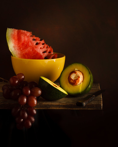 Melancia, abacate e uvas by Luiz L.
