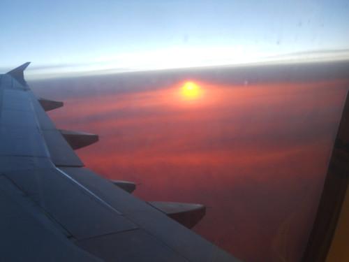 Dall'aereo, tornando da Parigi