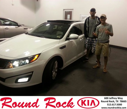 Thank you to Luis Perez on your new 2014 #Kia #Optima from Fidel Martinez and everyone at Round Rock Kia! #NewCar by RoundRockKia