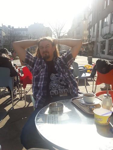Jens on a coffee break in Berlin