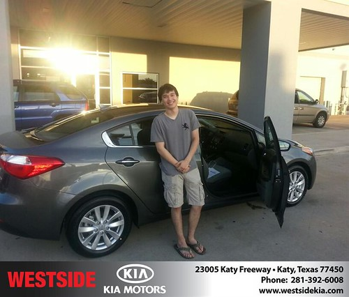 Thank you to Anthony Thompson on your new 2014 #Kia #Forte from Rubel Chowdhury and everyone at Westside Kia! #LoveMyCar by Westside KIA