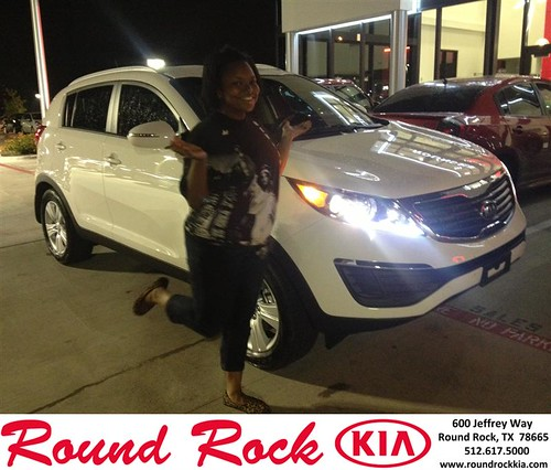 Thank you to Ashley Williams on your new 2013 #Kia #Sportage from Bobby Nestler and everyone at Round Rock Kia! #NewCarSmell - Copy by RoundRockKia