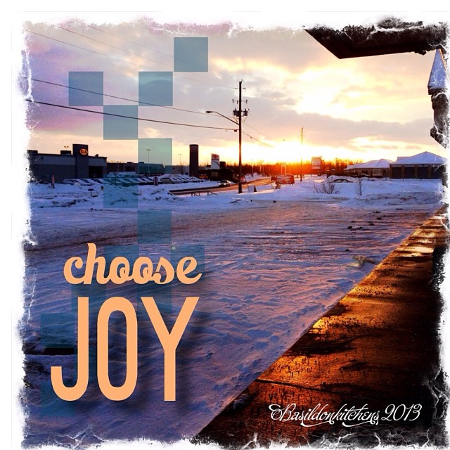 Dec 31 - joy {The joy if a beautiful sunset on a snowy & blustery day}. A lovely way to end the year. #photoaday #sunset #joy #snow #winter #rhonnadesigns
