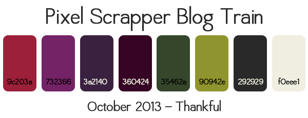 October Blog Train Colors
