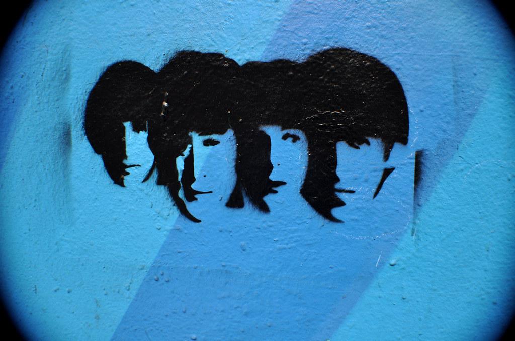 Beatles pochoir