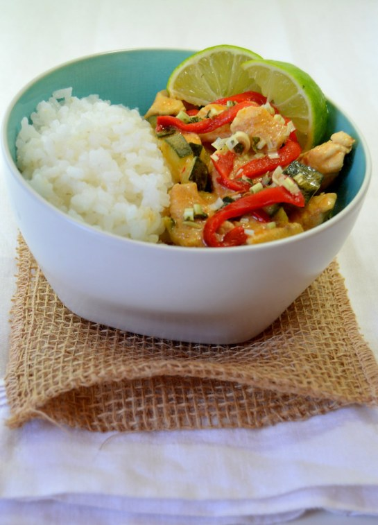 Curry Rojo con Calabacín
