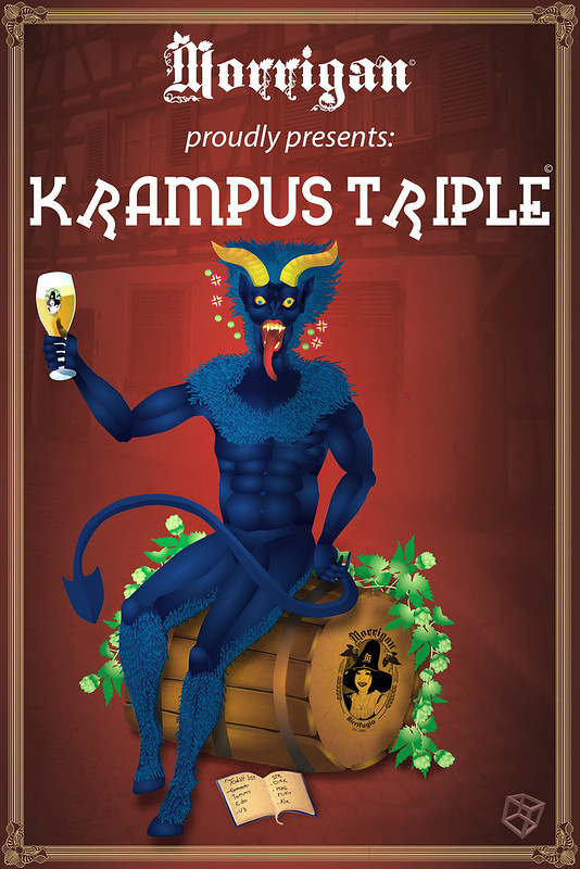 krampus triple full color sticker