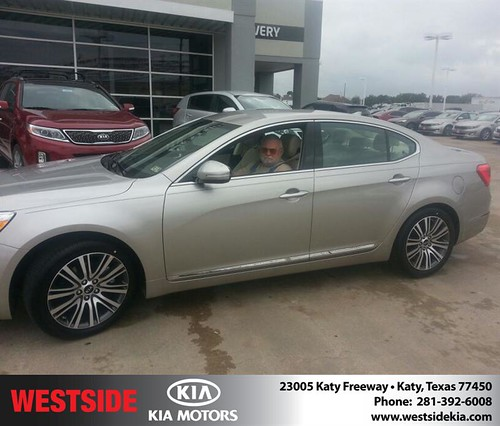 Thank you to Ed Lingo on your new 2014 #Kia #Cadenza from Rubel Chowdhury and everyone at Westside Kia! by Westside KIA