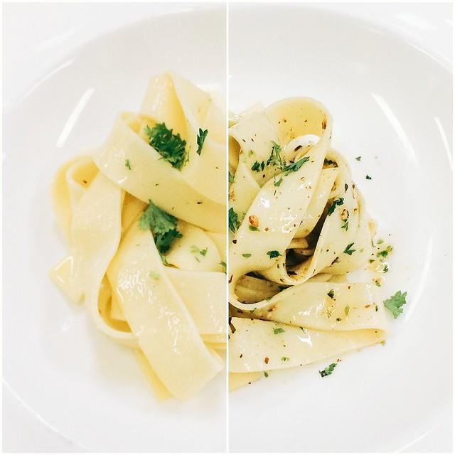 Plain Tagliatelle Pasta with Butter | Peperonata Tagliatelle Pasta