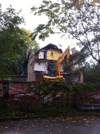 Shambhala Meditation Center of Chicago being demolished