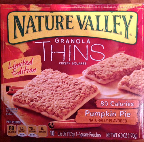 Nature Valley Limited Edition Pumpkin Pie Granola Thins