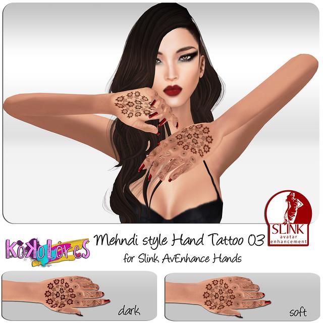 [KoKoLoReS] Mehndi style Hand Tattoo 03