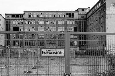 Derelict building in Berlin B&W