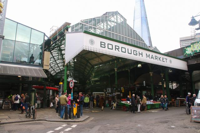 Historical Borough Market in London