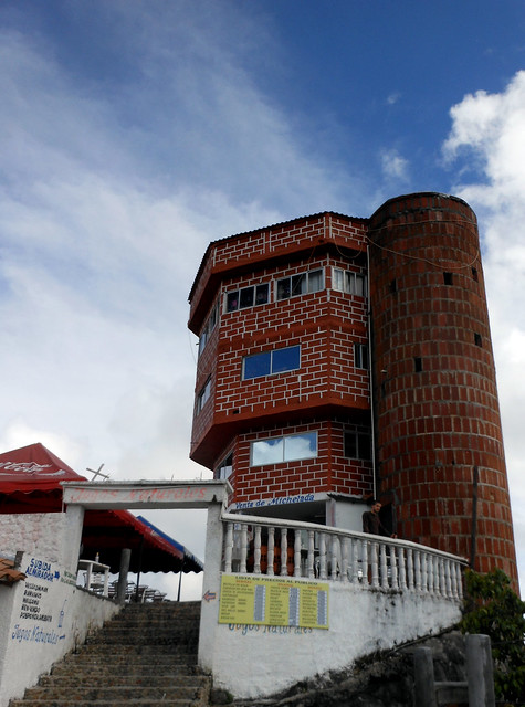 Building at the top of La Piedra in Guatape, Colombia.