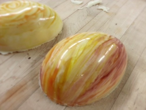 Tempered white chocolate eggs by pipsyq