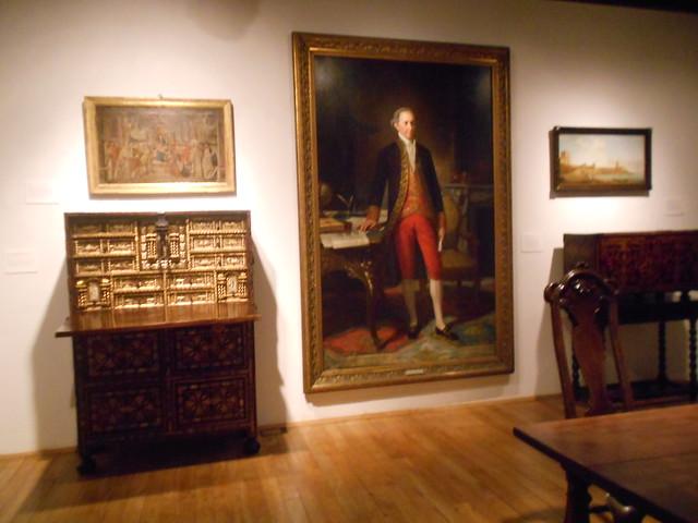Cuadro de Jovellanos y muebles en su Casa Natal en Gijón