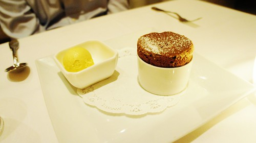 Warm Chocolate Soufflé