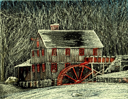 Winter Watermill