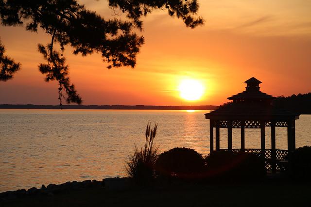 Lake Murray sunset from Pine Island