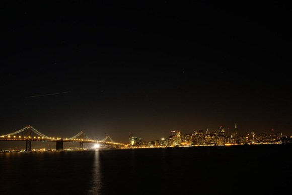 San Francisco skyline and the Bay Bridge