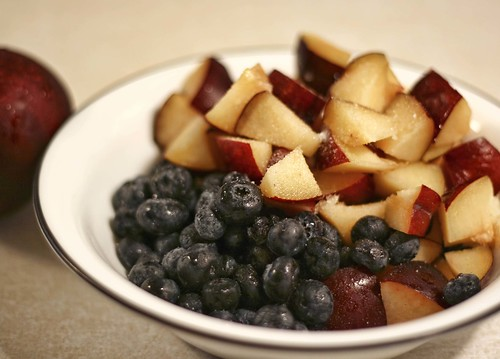 Blueberry-Plum Betty