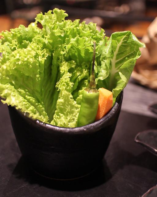 Lettuce, Mustard leaves, etc. at Yoree